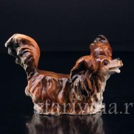 Фарфорвая статуэтка Собака Длинношерстная такса, Германия, нач. 20 в.