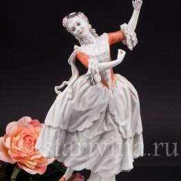 Фарфоровые статуэтки Танцовщица рококо, Rosenthal, Германия, 1948 г.