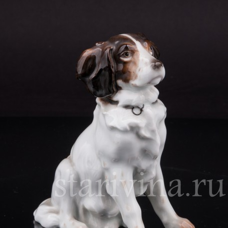 Фарфоровая статуэтка собаки Сидящий пес, Karl Ens, Германия, 1920-30 гг.