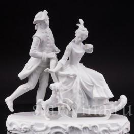 Бисквитная композиция Катание на санках, Германия, кон 19 - нач 20 вв.